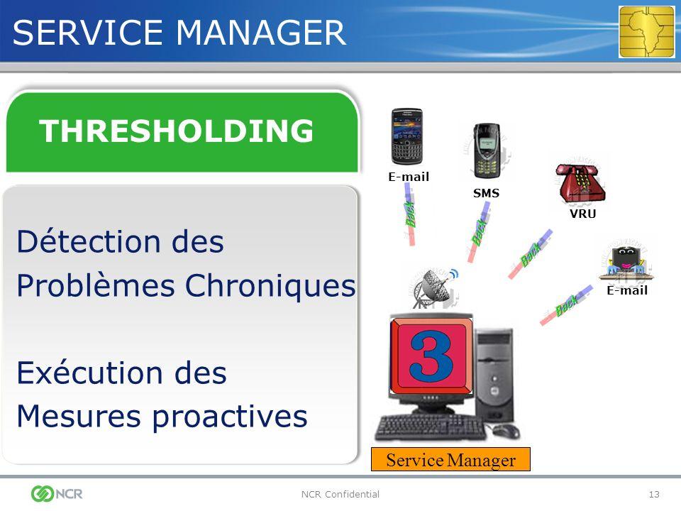 SERVICE MANAGER THRESHOLDING Détection des Problèmes Chroniques