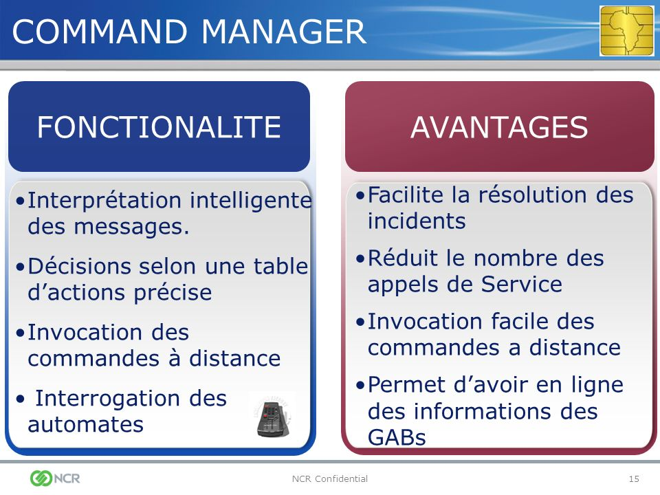 COMMAND MANAGER FONCTIONALITE AVANTAGES