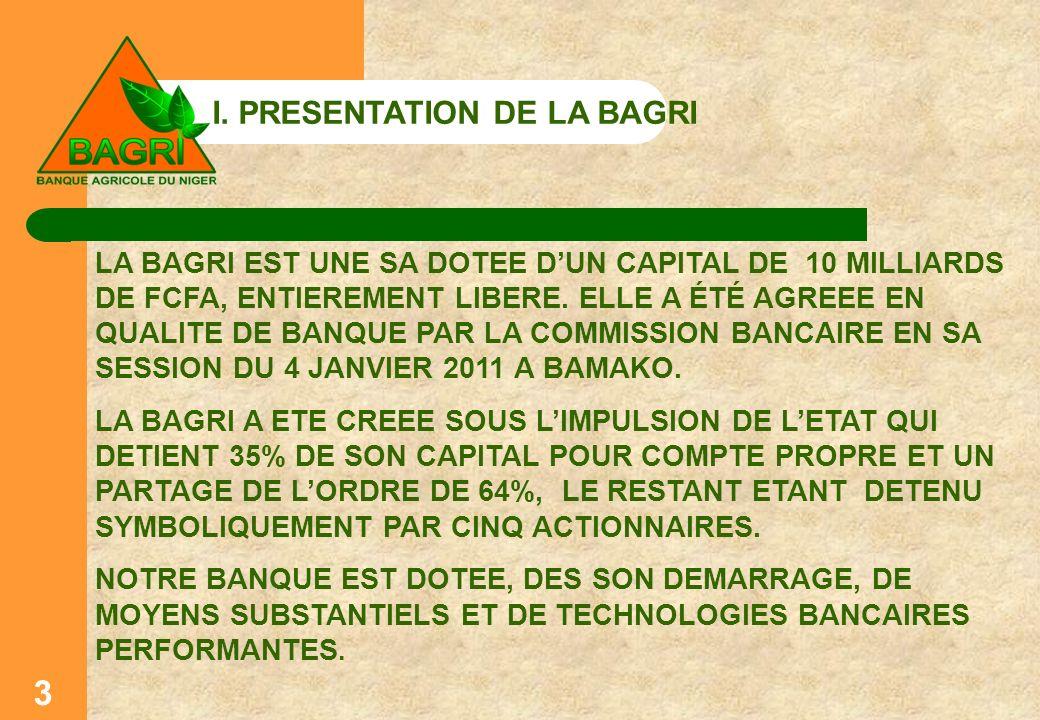 I. PRESENTATION DE LA BAGRI