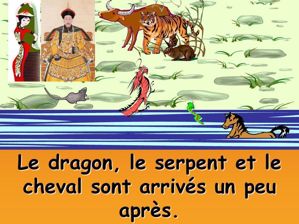 Le dragon, le serpent et le cheval sont arrivés un peu après.