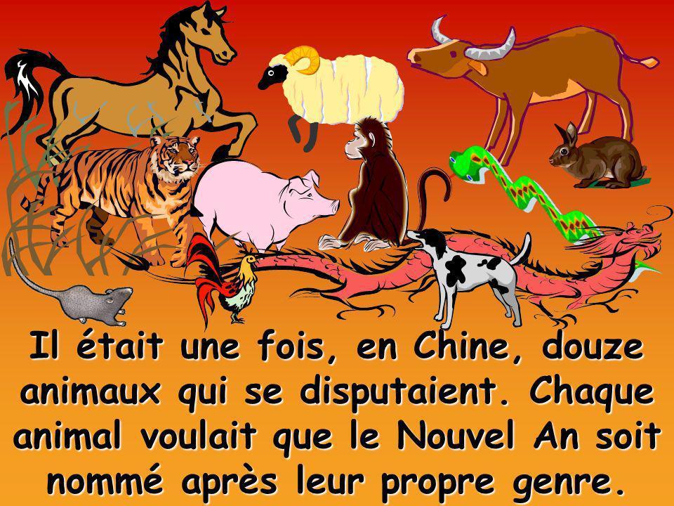Il était une fois, en Chine, douze animaux qui se disputaient