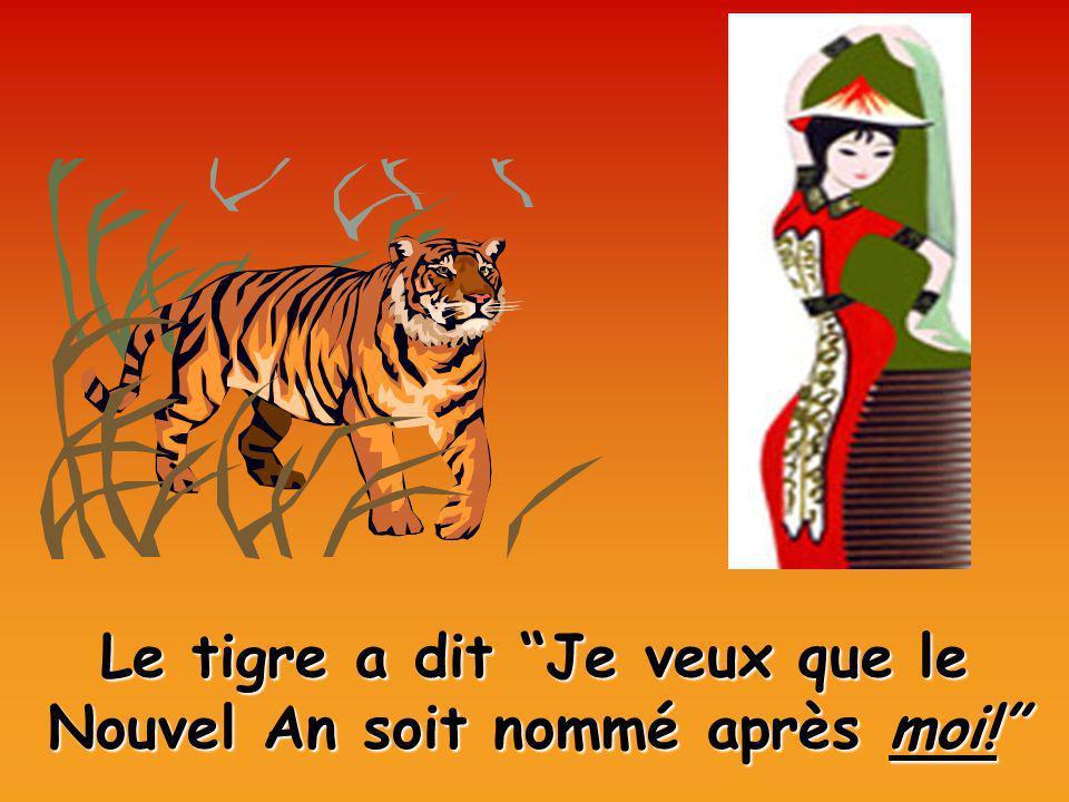 Le tigre a dit Je veux que le Nouvel An soit nommé après moi!