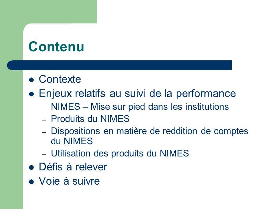 Contenu Contexte Enjeux relatifs au suivi de la performance