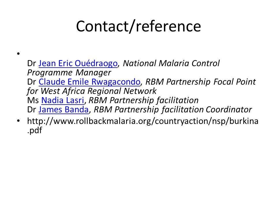 Contact/reference