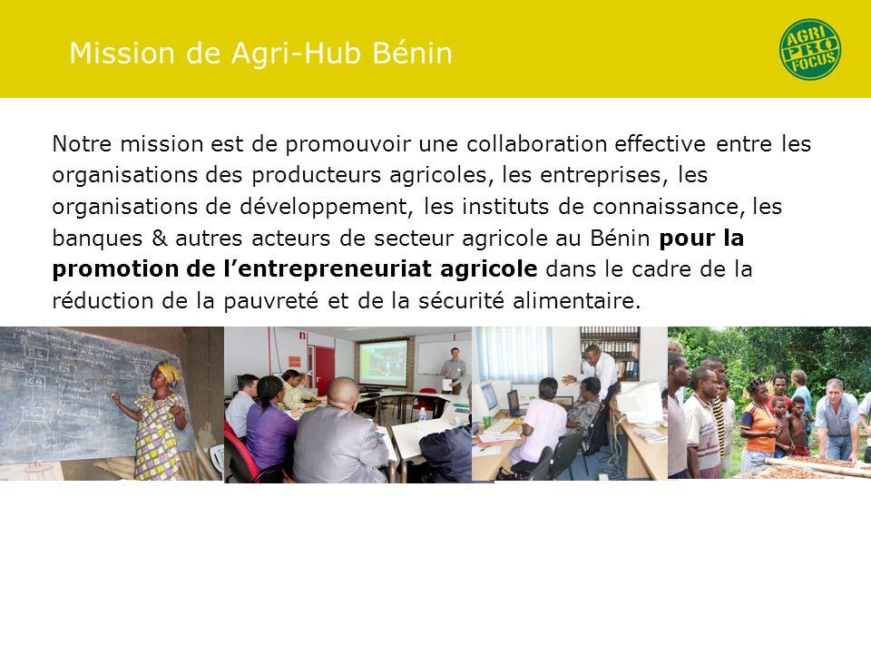 Mission de Agri-Hub Bénin