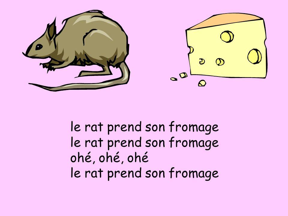 le rat prend son fromage