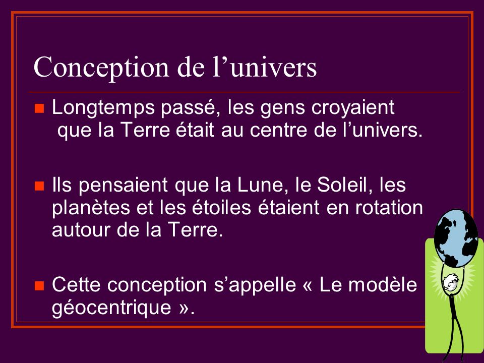Conception de l'univers
