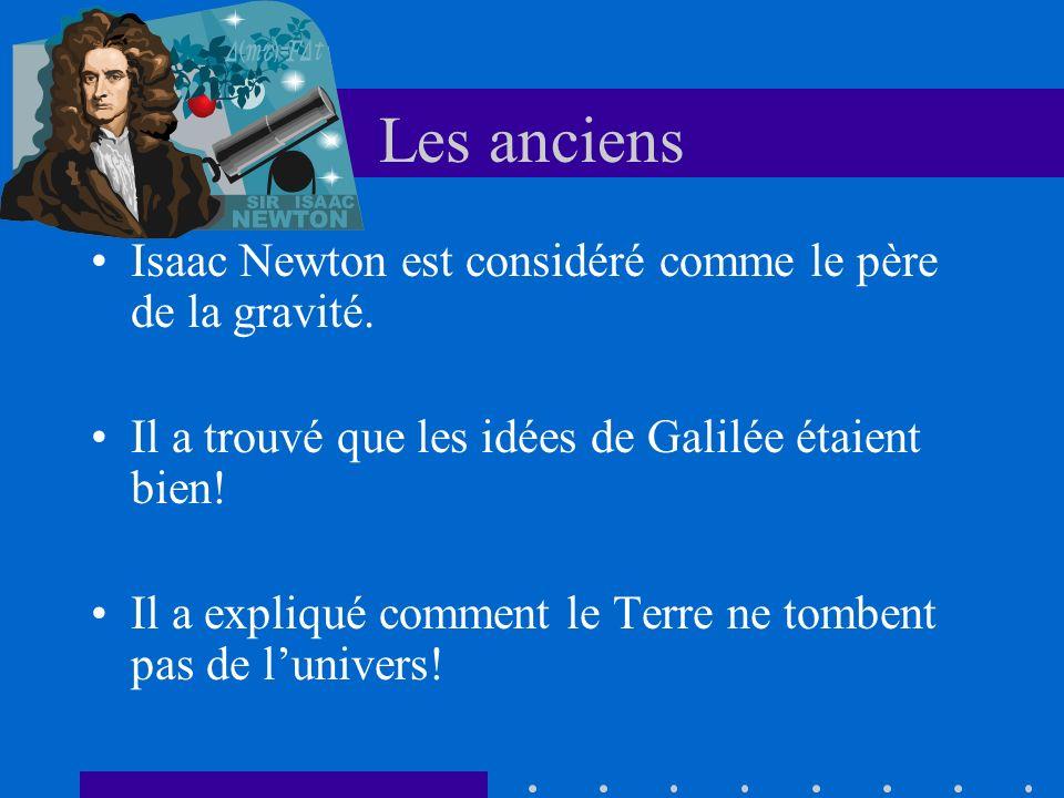 Les anciens Isaac Newton est considéré comme le père de la gravité.