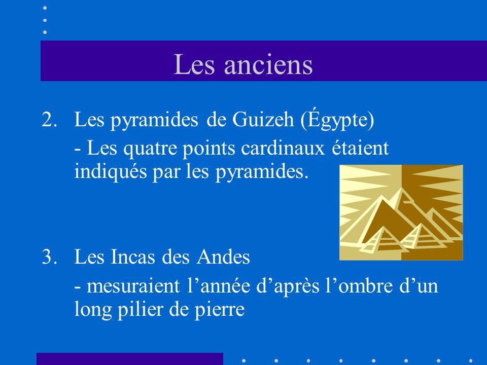 Les anciens Les pyramides de Guizeh (Égypte)