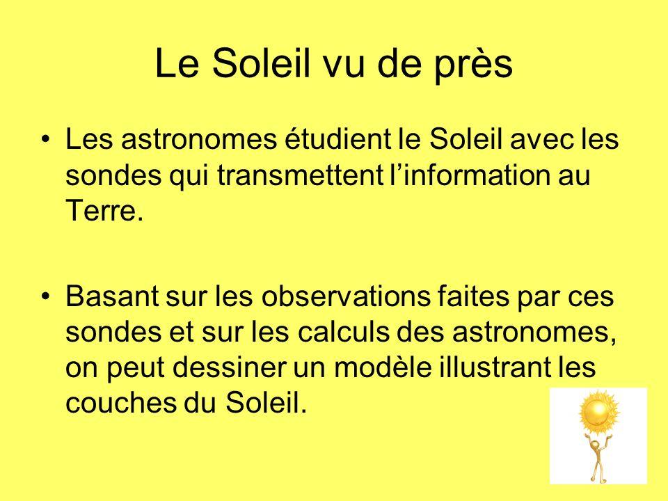 Le Soleil vu de près Les astronomes étudient le Soleil avec les sondes qui transmettent l'information au Terre.