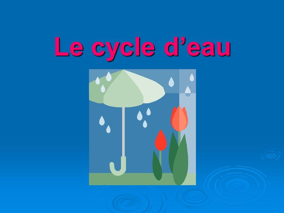 Le cycle d'eau