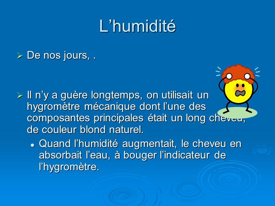L'humidité De nos jours, .