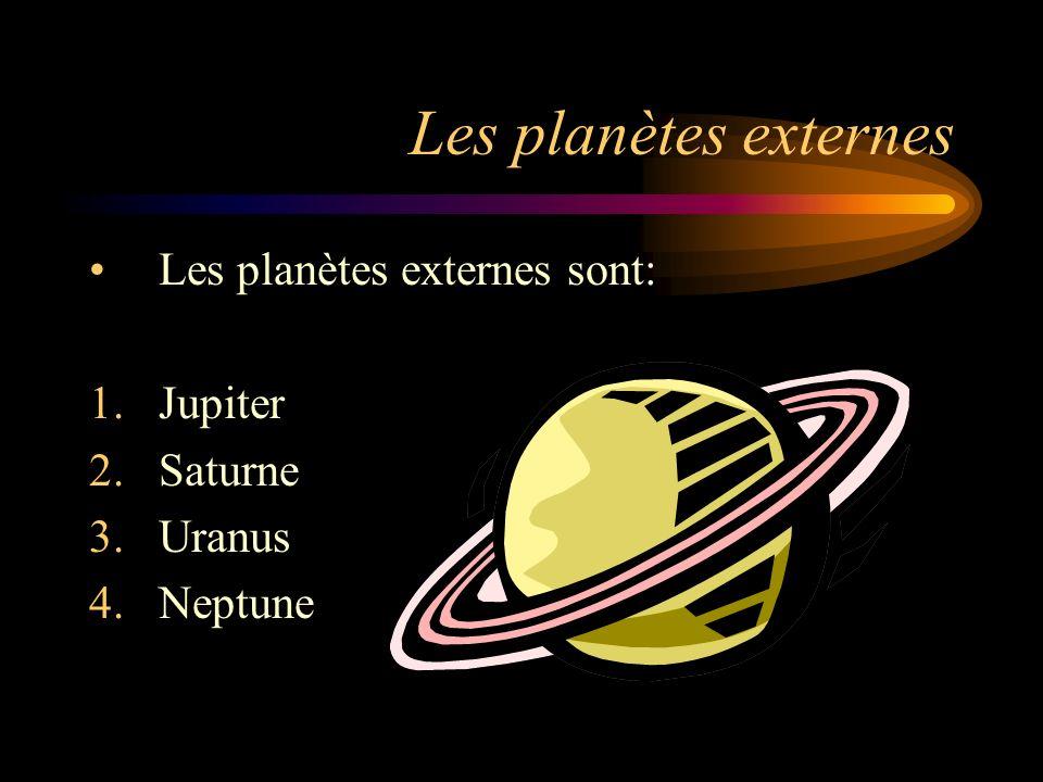 Les planètes externes Les planètes externes sont: Jupiter Saturne