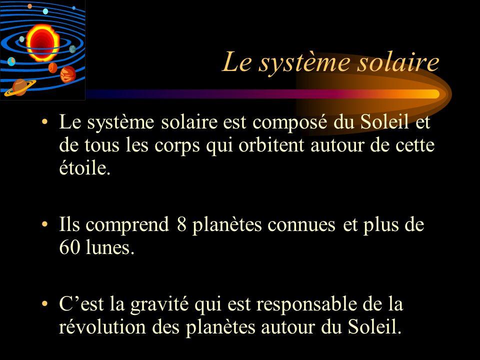 Le système solaire Le système solaire est composé du Soleil et de tous les corps qui orbitent autour de cette étoile.