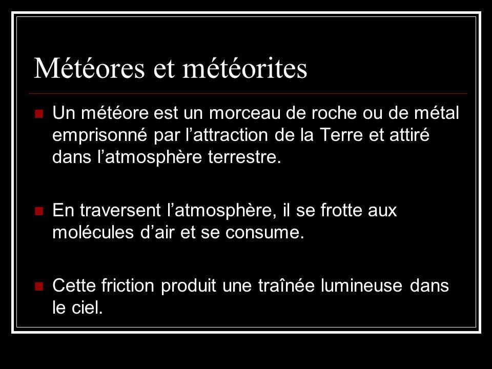 Météores et météorites