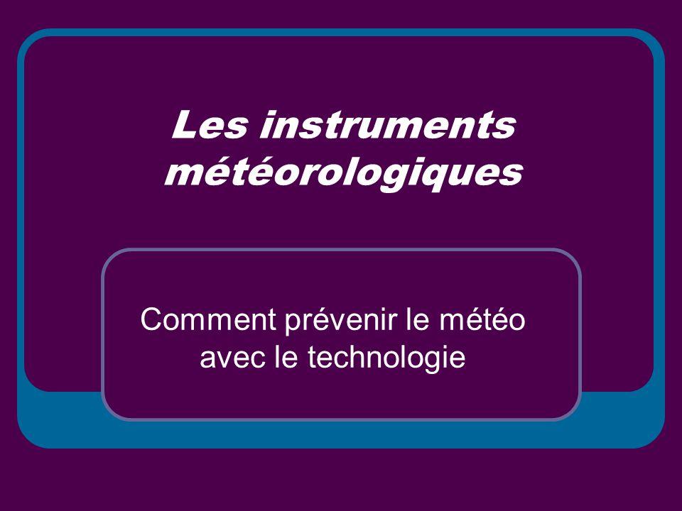 Les instruments météorologiques