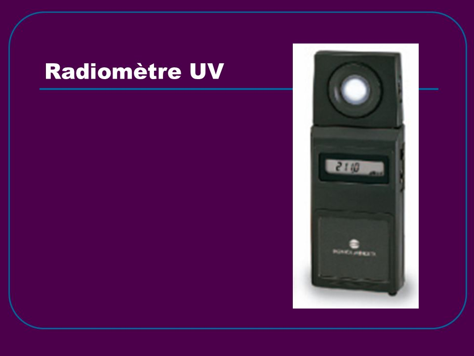 Radiomètre UV