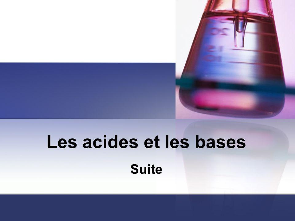 Les acides et les bases Suite