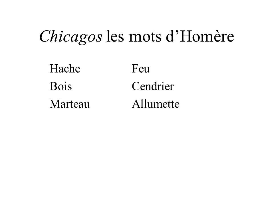 Chicagos les mots d'Homère