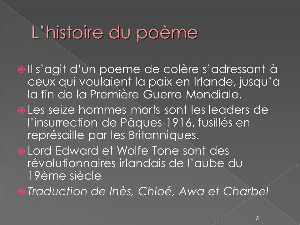 L'histoire du poème