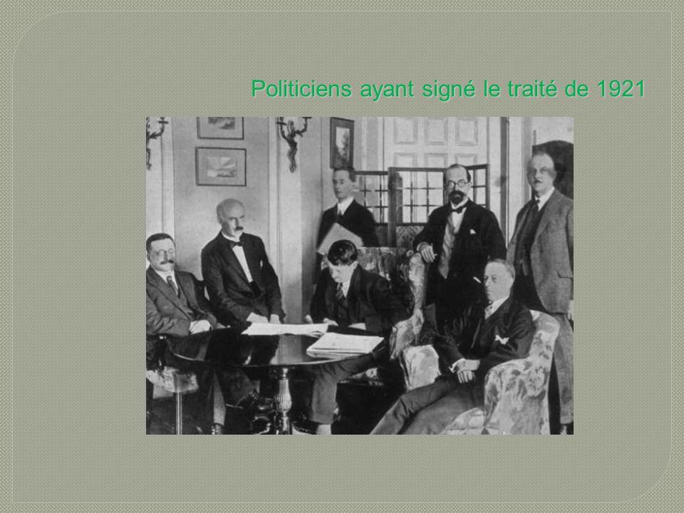 Politiciens ayant signé le traité de 1921