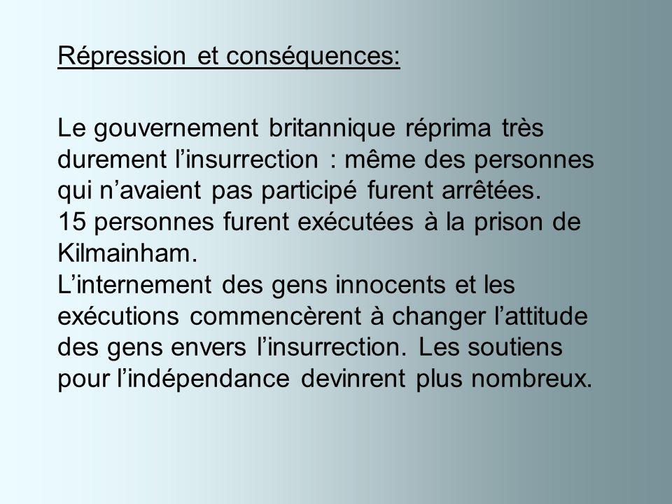 Répression et conséquences: