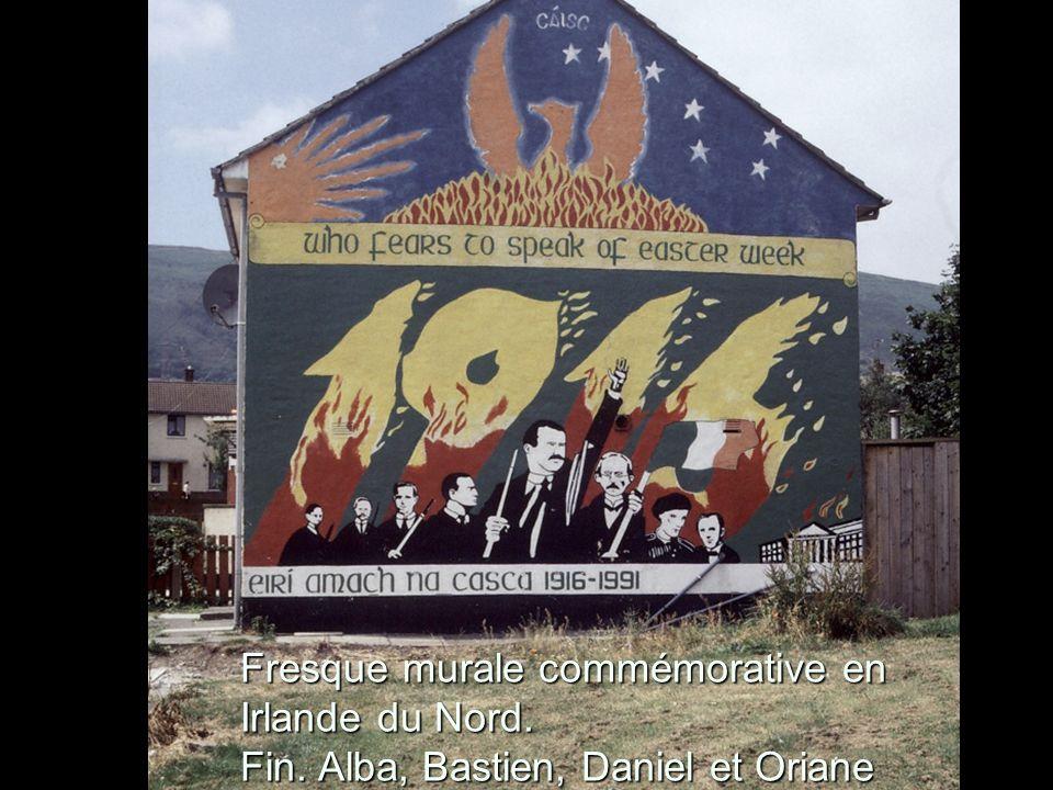 Fresque murale commémorative en Irlande du Nord.