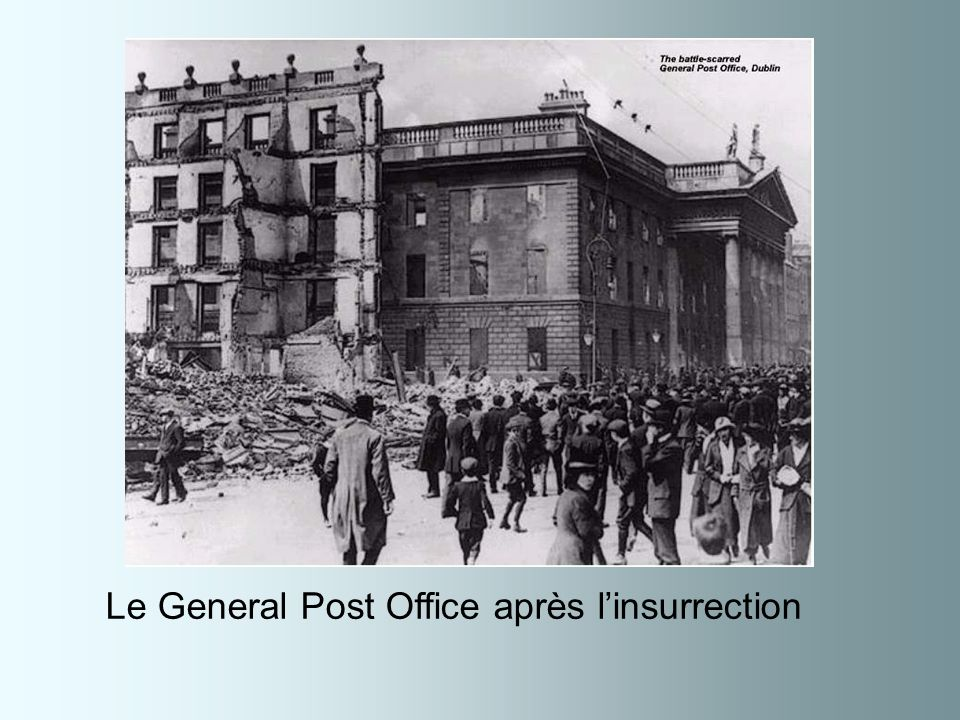 Le General Post Office après l'insurrection