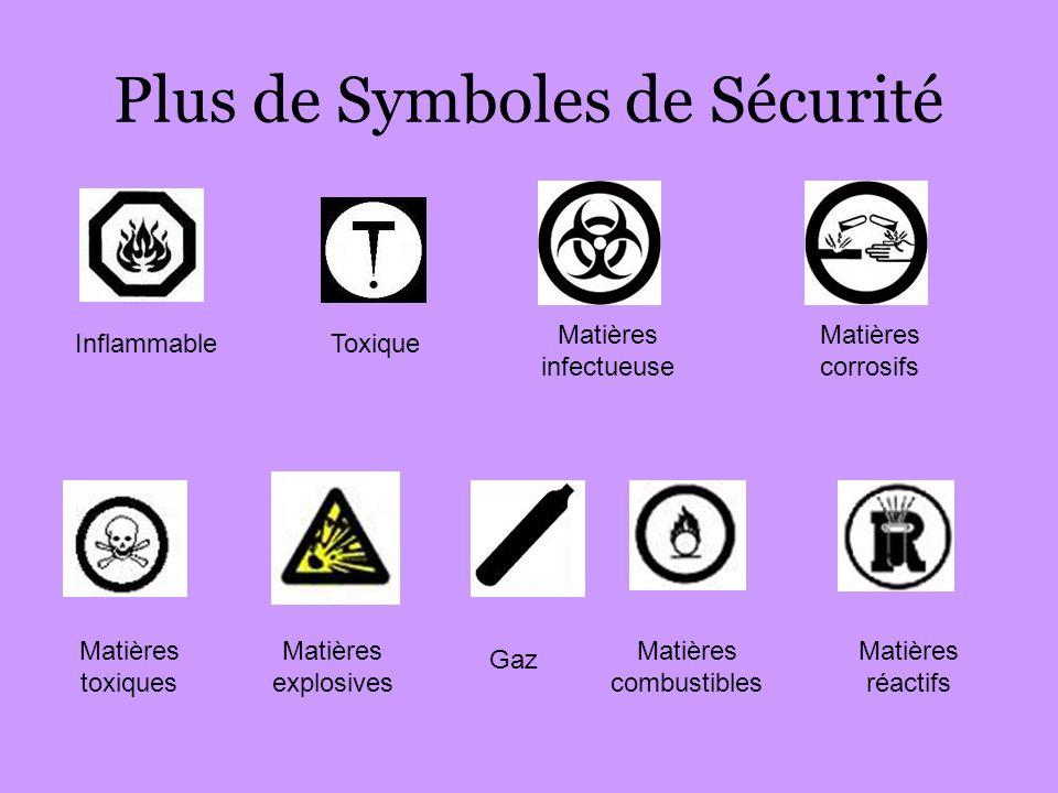 Plus de Symboles de Sécurité