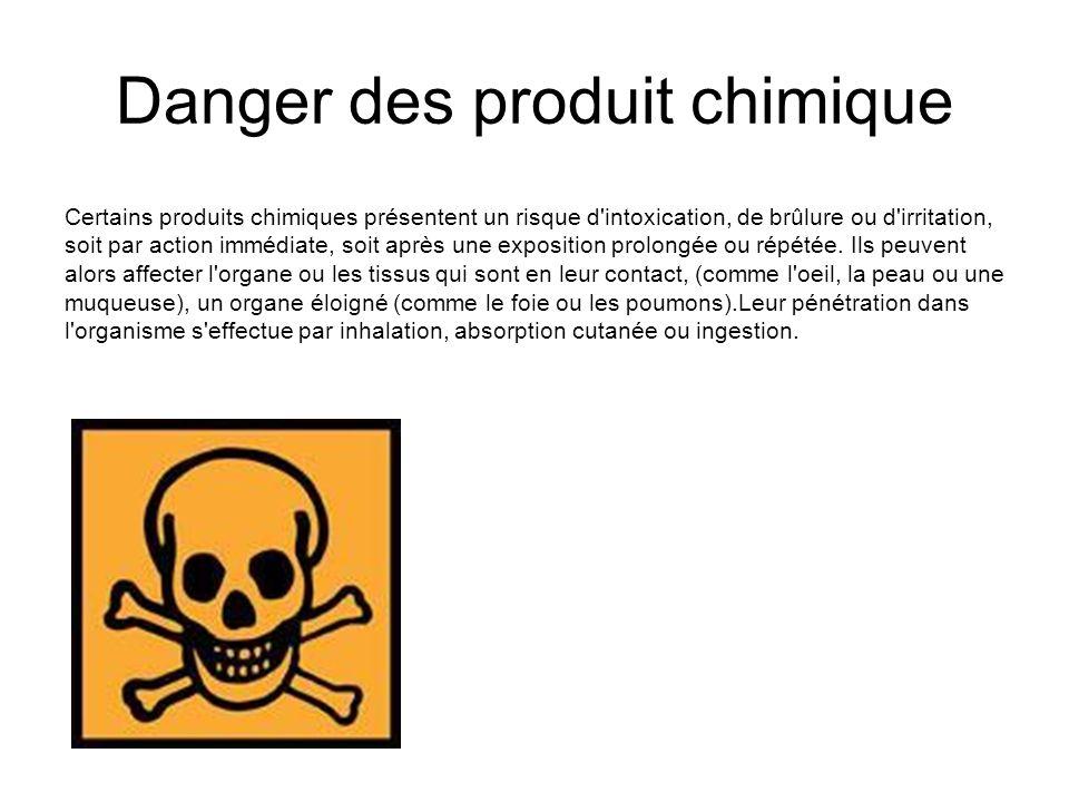 Danger des produit chimique