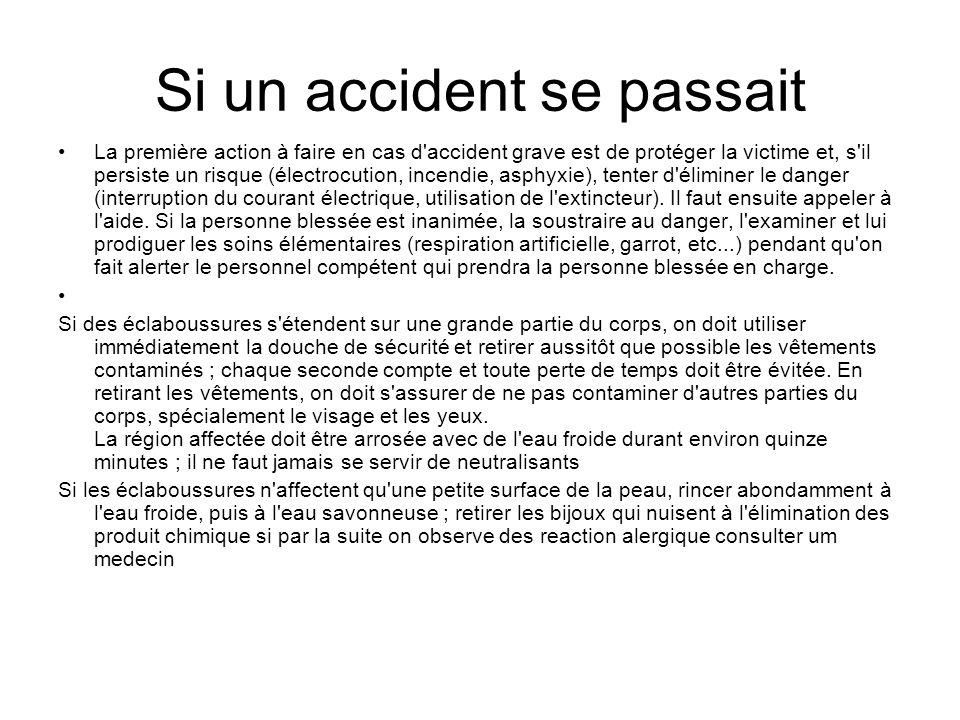 Si un accident se passait