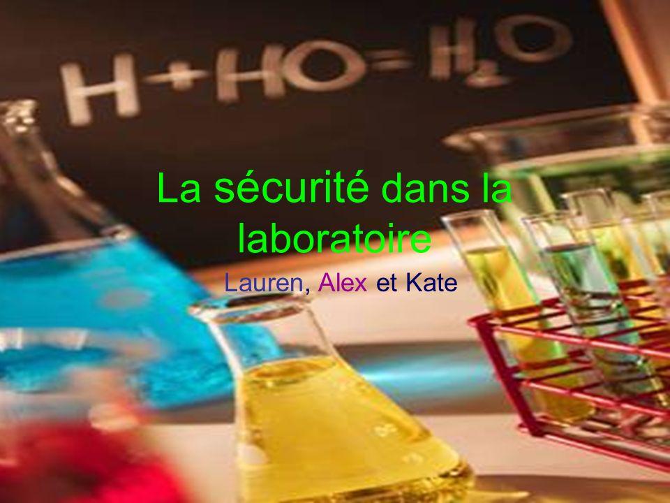 La sécurité dans la laboratoire