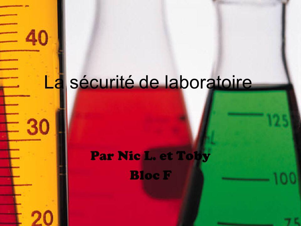 La sécurité de laboratoire