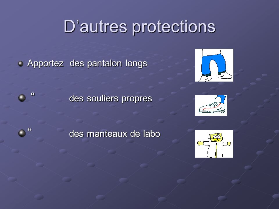 D'autres protections des souliers propres des manteaux de labo