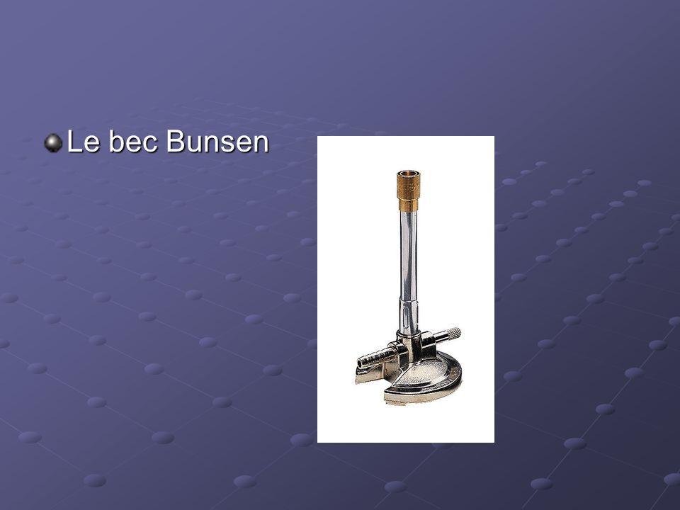 Le bec Bunsen