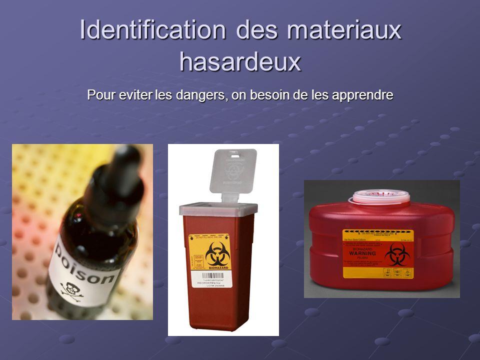 Identification des materiaux hasardeux