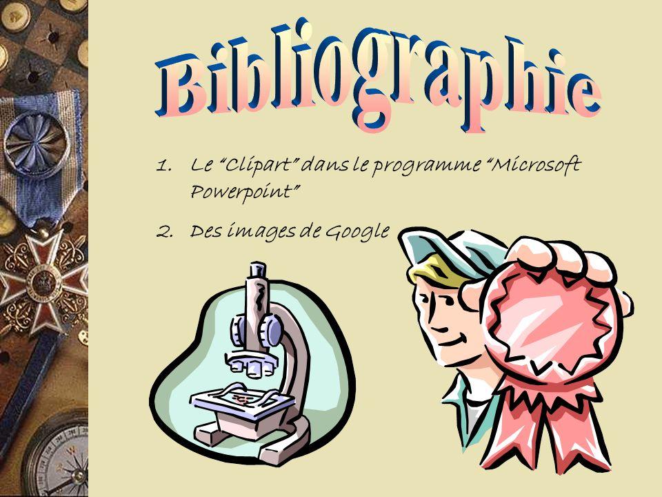 Bibliographie Le Clipart dans le programme Microsoft Powerpoint