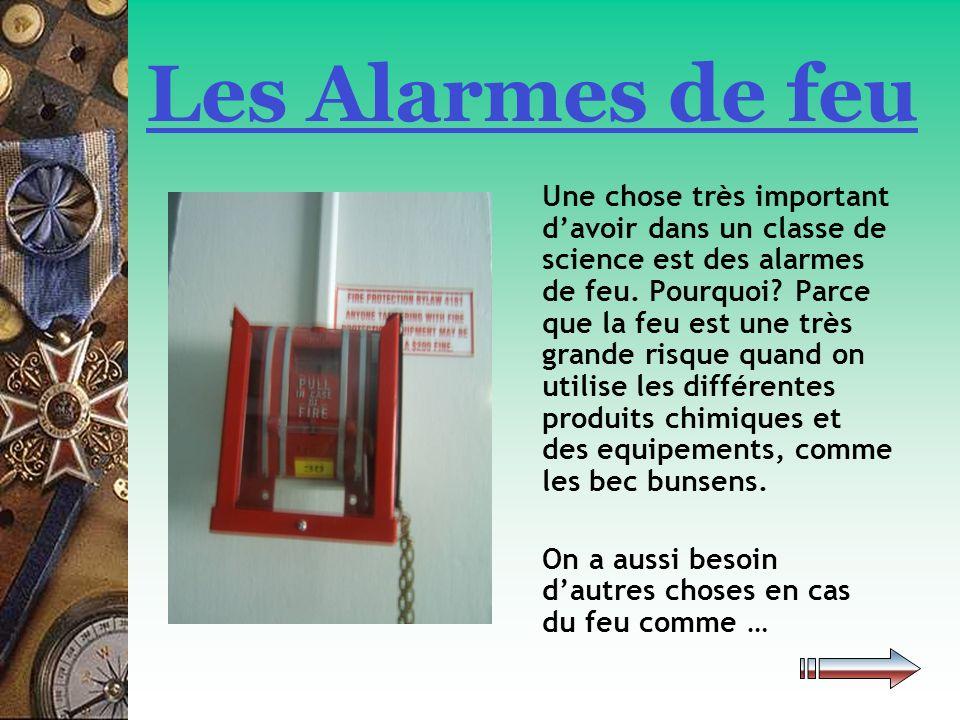 Les Alarmes de feu