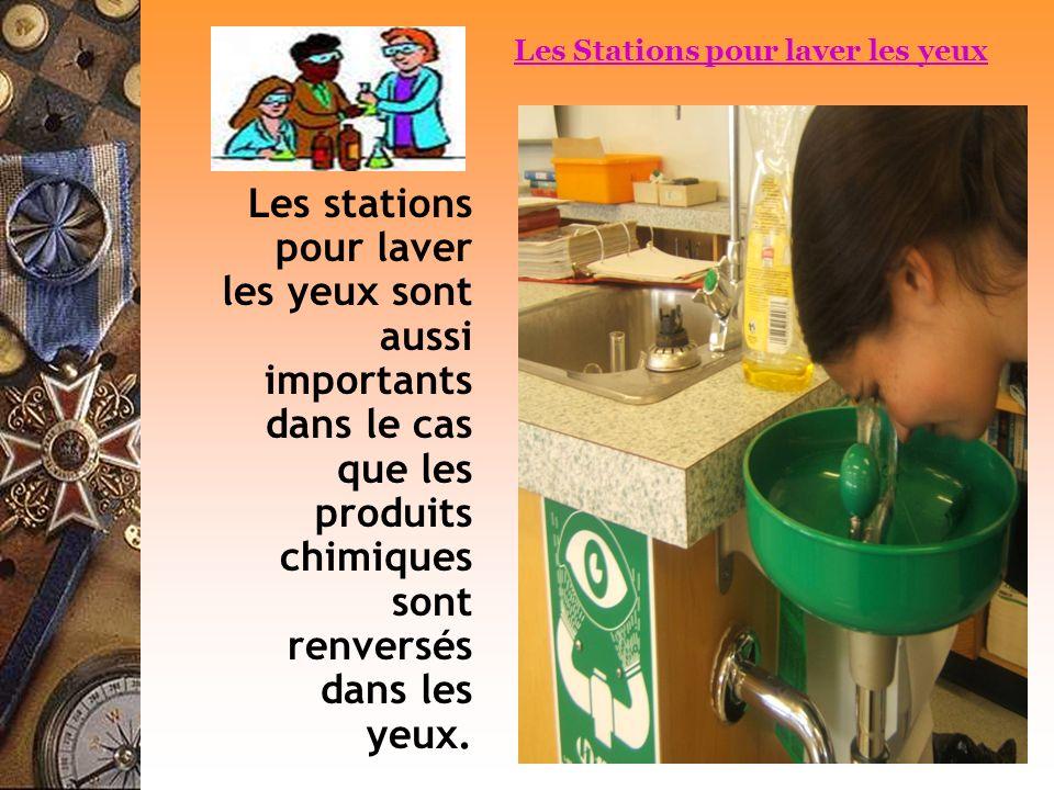 Les Stations pour laver les yeux
