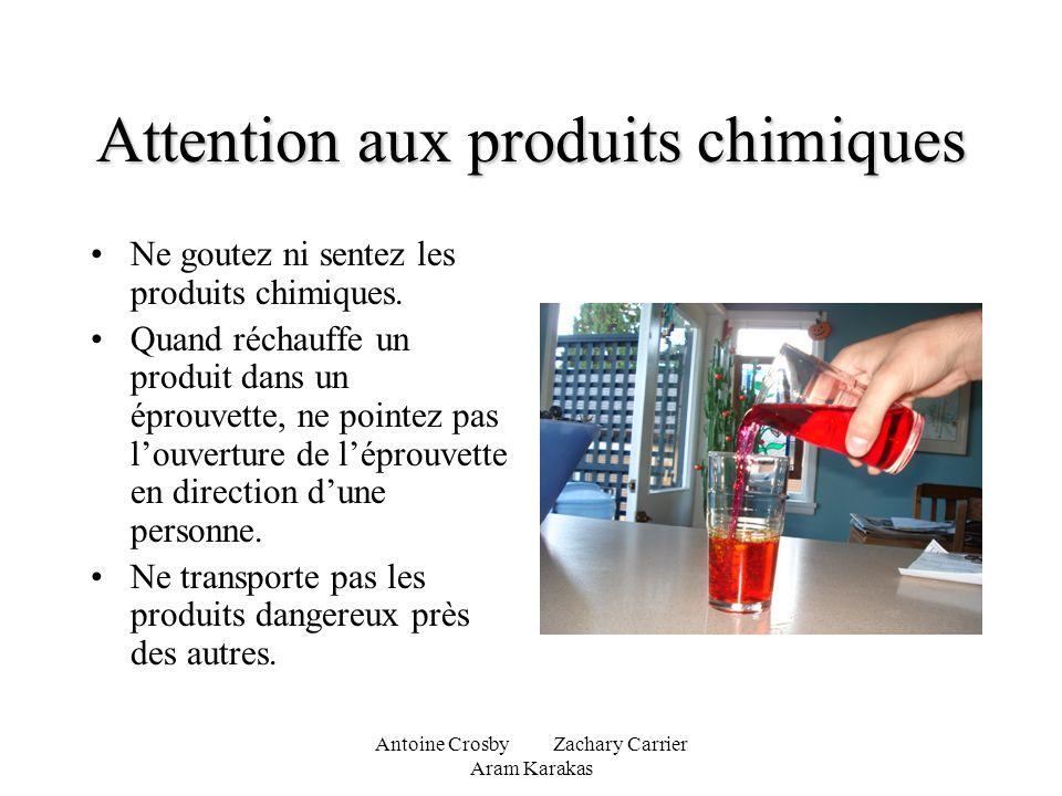 Attention aux produits chimiques