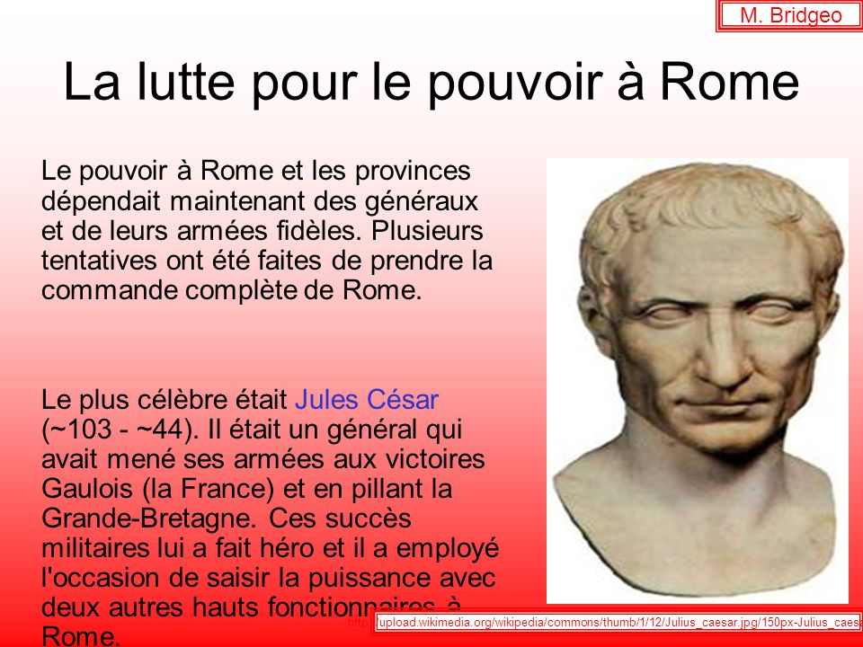 La lutte pour le pouvoir à Rome