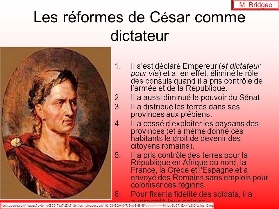 Les réformes de César comme dictateur