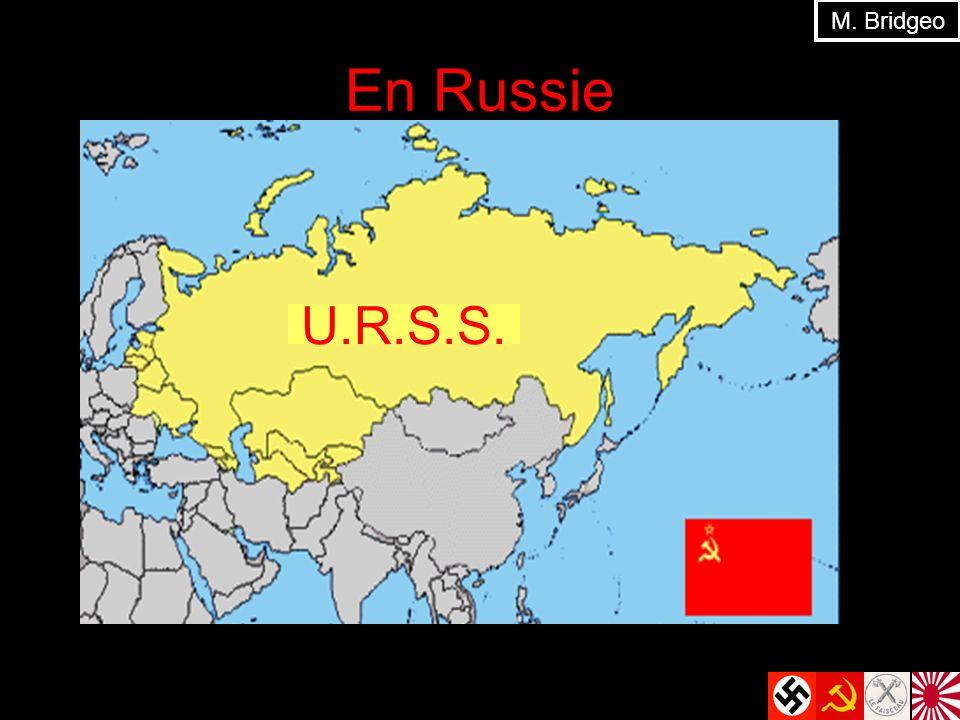 M. Bridgeo En Russie U.R.S.S.