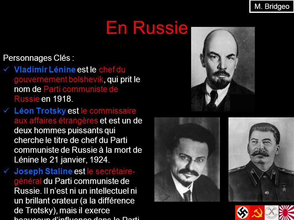 En Russie Personnages Clés :