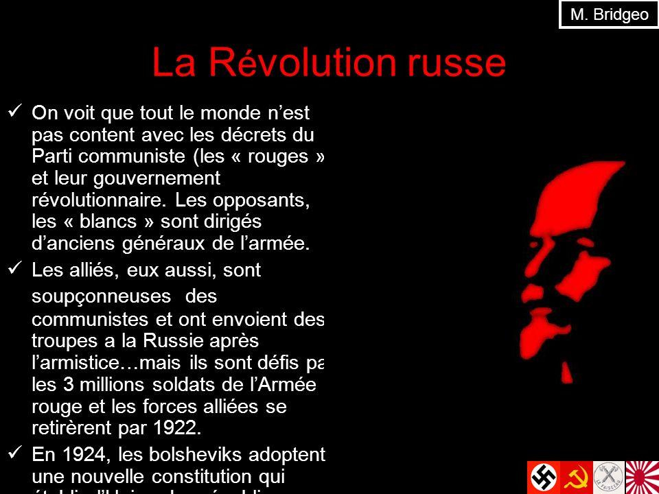 M. Bridgeo La Révolution russe.