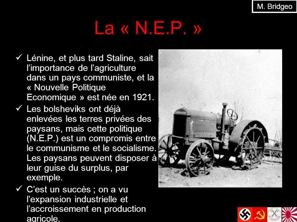 M. Bridgeo La « N.E.P. »