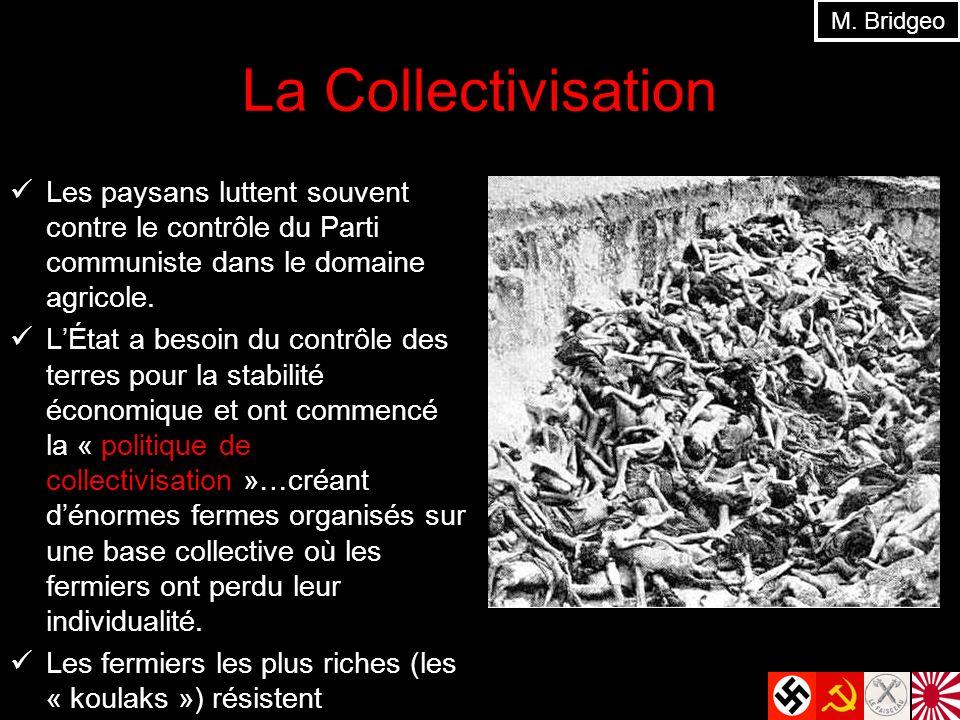 M. Bridgeo La Collectivisation. Les paysans luttent souvent contre le contrôle du Parti communiste dans le domaine agricole.
