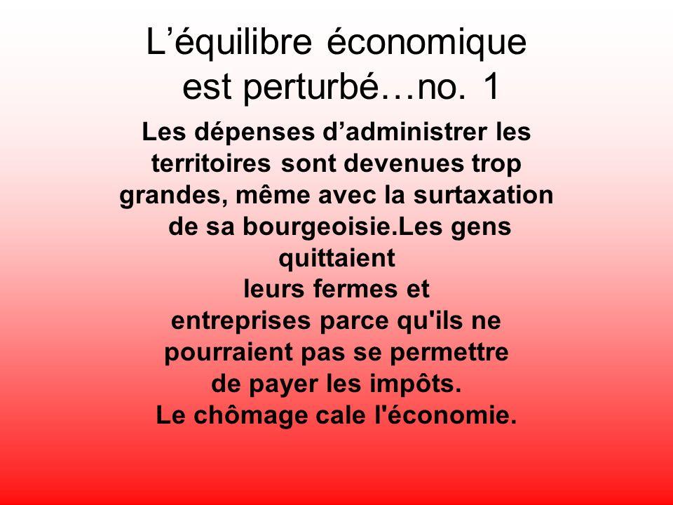 L'équilibre économique est perturbé…no. 1