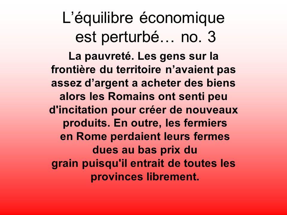 L'équilibre économique est perturbé… no. 3