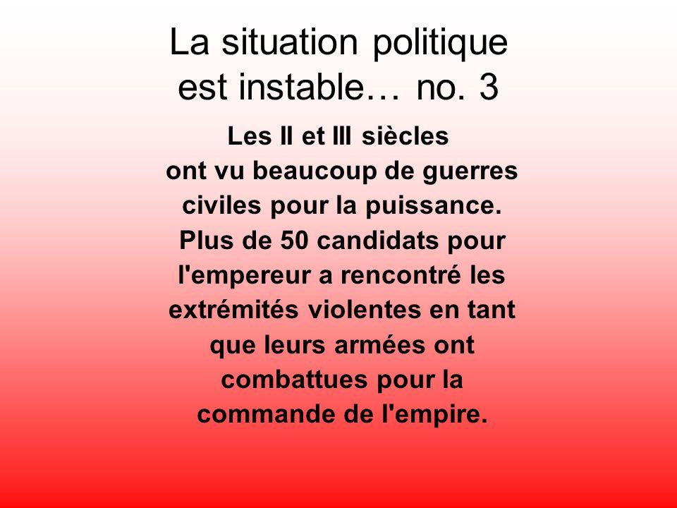 La situation politique est instable… no. 3